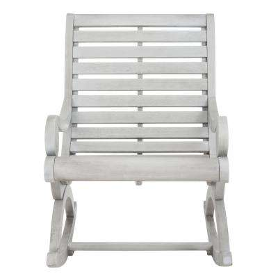 Sonora Ash Grey Wood Outdoor Rocking Chair