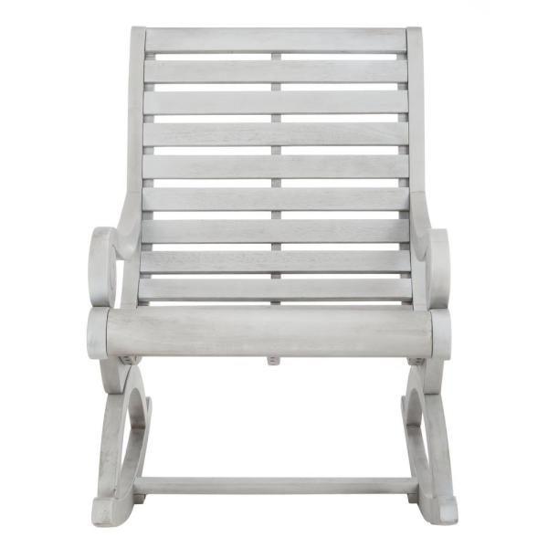 Sonora Ash Grey Eucalyptus Wood Outdoor Rocking Chair