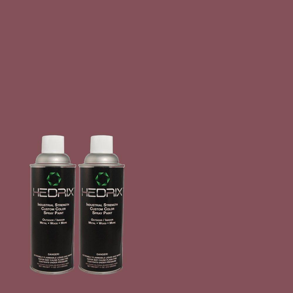 Hedrix 11 oz. Match of 4C15-3 Full Wine Gloss Custom Spray Paint (2-Pack)