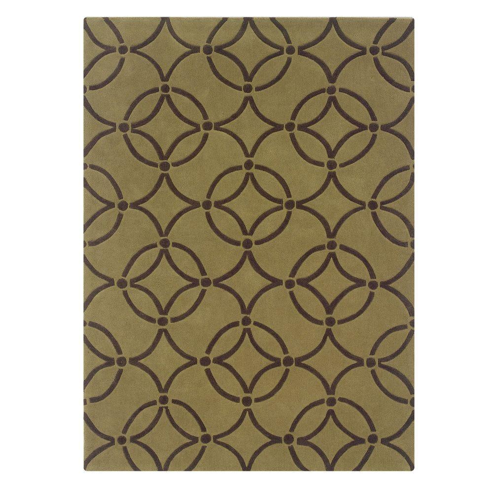 Linon home decor trio collection wasabi and chocolate 8 ft x 10 ft indoor area rug rug ta06381 - Rugs and home decor decor ...