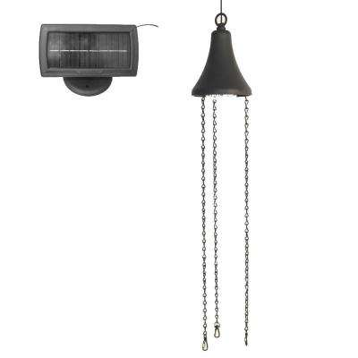 Solar Powered Black Integrated LED Hanging Spotlight