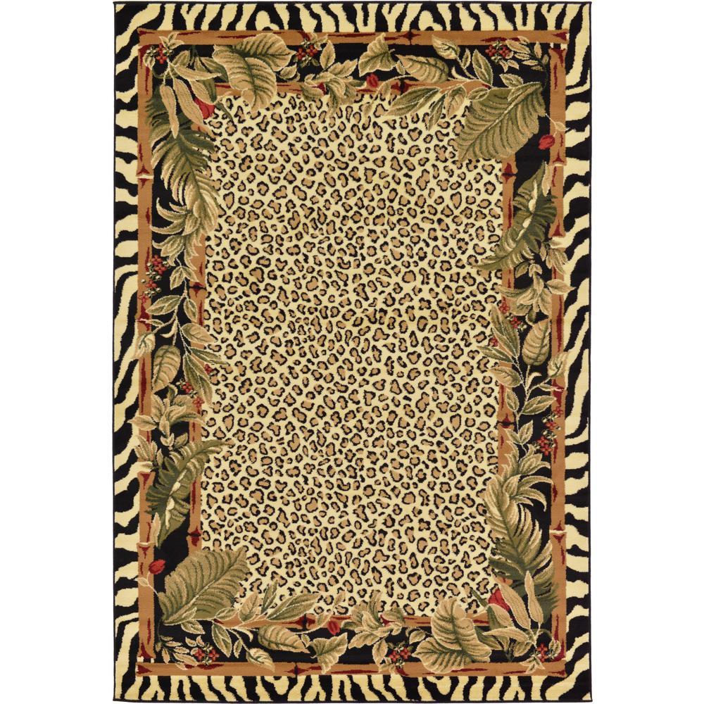 Unique Loom Wildlife Cream 6' X 9' Rug-3125118