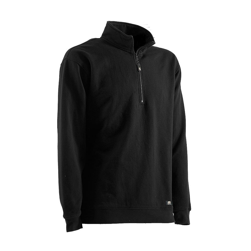Berne Men S Extra Large Regular Navy Cotton And Polyester Fleece Unlined Quarter Zip Sweatshirt
