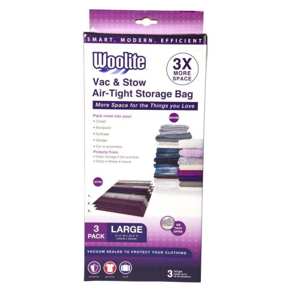 3PC LARGE VACUUM STORAGE BAGS 21.5'' X 33.5''