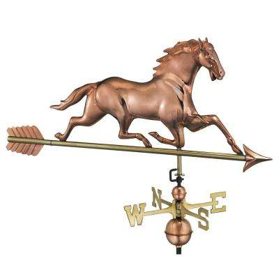 Horse Weathervane with Arrow - Pure Copper