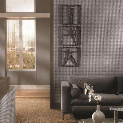 Square 96 in. x 48 in. Decorative Wall Panel in Argent Bronze