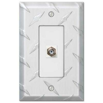 Diamond 1 Coaxial Wall Plate - Chrome