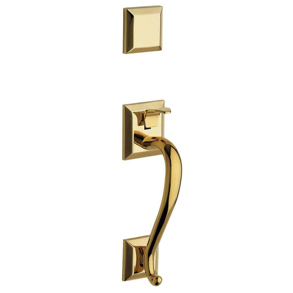 Madison Lifetime Double Cylinder Polished Brass Handleset
