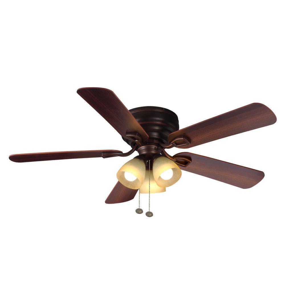 Bronze Havana Abs Blade Tropical Indoor Outdoor Ceiling: Hampton Bay Nassau 52 In. LED Indoor/Outdoor Gilded Iron