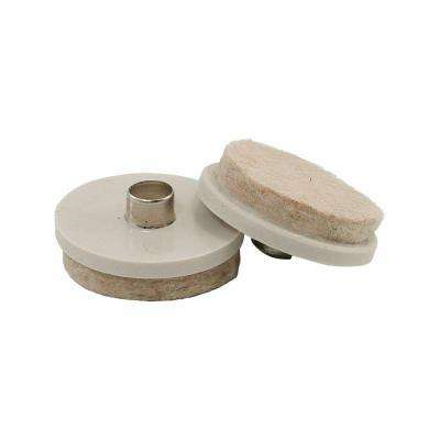 1 in. Beige Nail-on Glides with Felt Base (20-Pack)