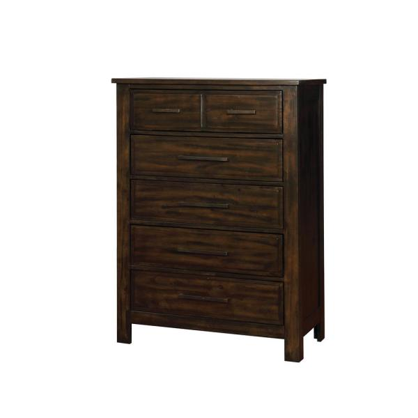 William's Home Furnishing Canopus Dark Walnut Transitional Style Chest CM7422C