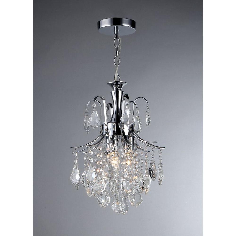 Warehouse Of Tiffany Susan 3-Light Crystal Chrome