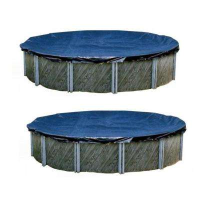18 ft. Swimline Round Above Ground Winter Swimming Pool Protective Cover (2-Pack)
