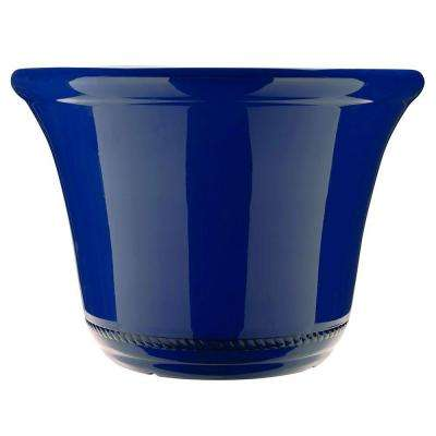 Westbourne Flange 22.5 in. Dia Lightning Resin Planter