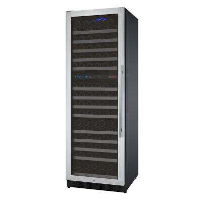 FlexCount Series 172-Bottle Dual Zone Wine Refrigerator with Left Hinge