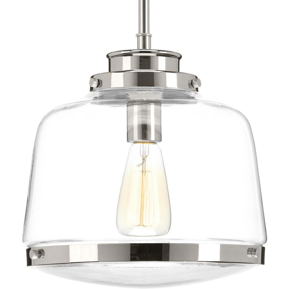 Progress Lighting Judson Collection 1 Light Polished Nickel Pendant