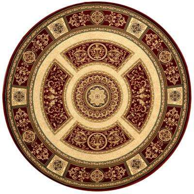 Empire Red 7 ft. 10 in. Indoor Round Area Rug