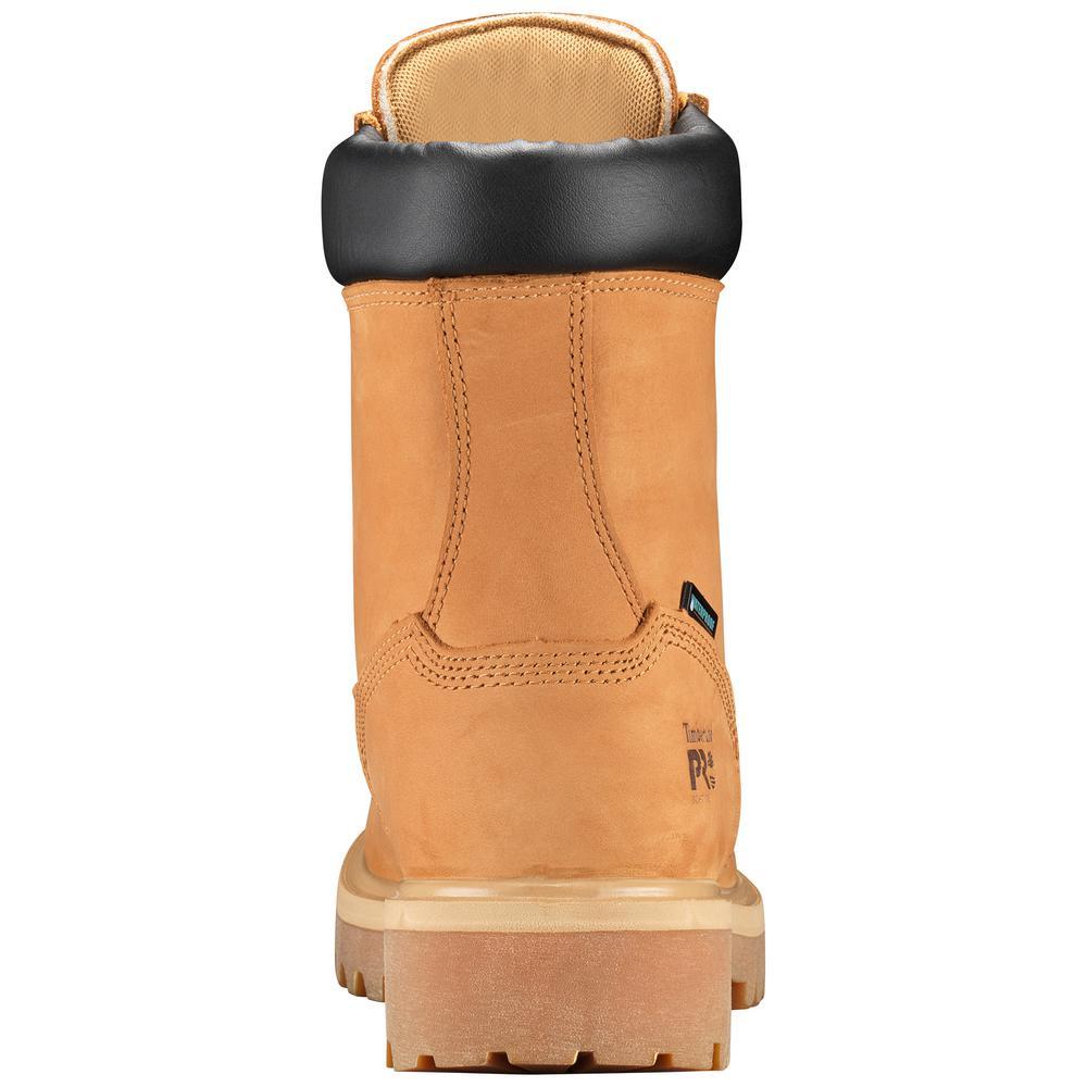 Timberland PRO Men's Direct Attach Waterproof 8'' Work Boots Soft Toe Wheat Size 9.5(M)
