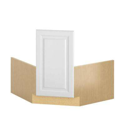 Madison Ready to Assemble 36x34.5x36 in. Corner Sink Base Cabinet in Warm White