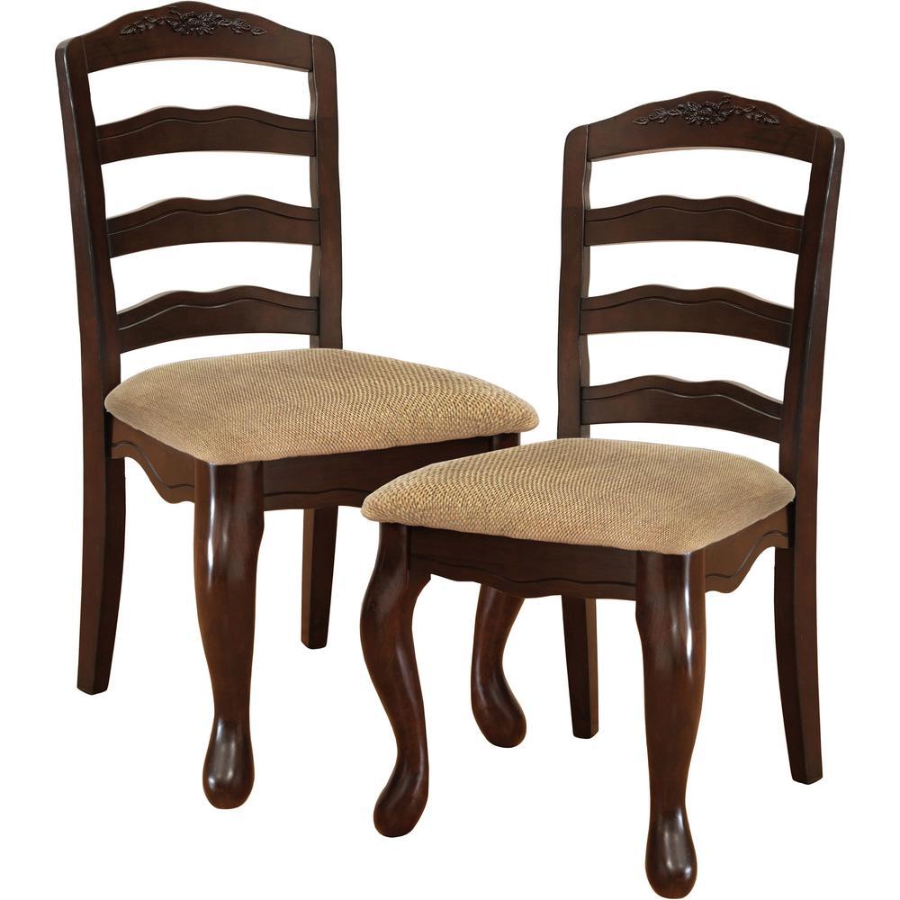 Venetian worldwide townsville i dark walnut dining chair set of 2
