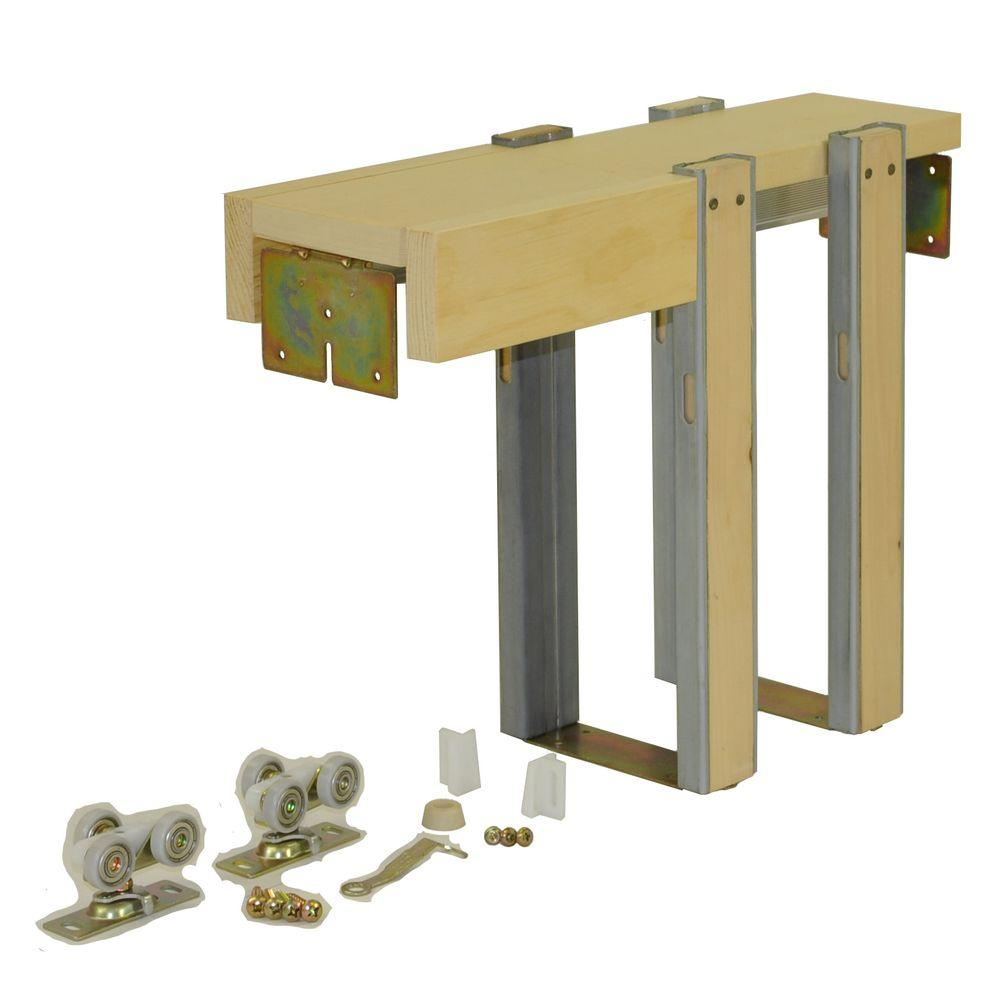 Johnson hardware 1560 series 30 in x 84 in pocket door for Door jamb size for 2x6 walls