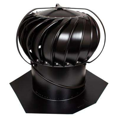 12 in. Black Aluminum Externally Braced Wind Turbine