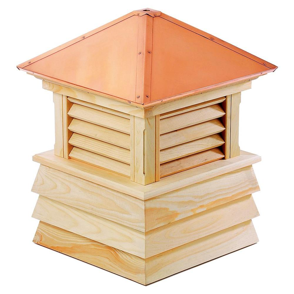 Dover 18 in. x 25 in. Wood Cupola with Copper Roof