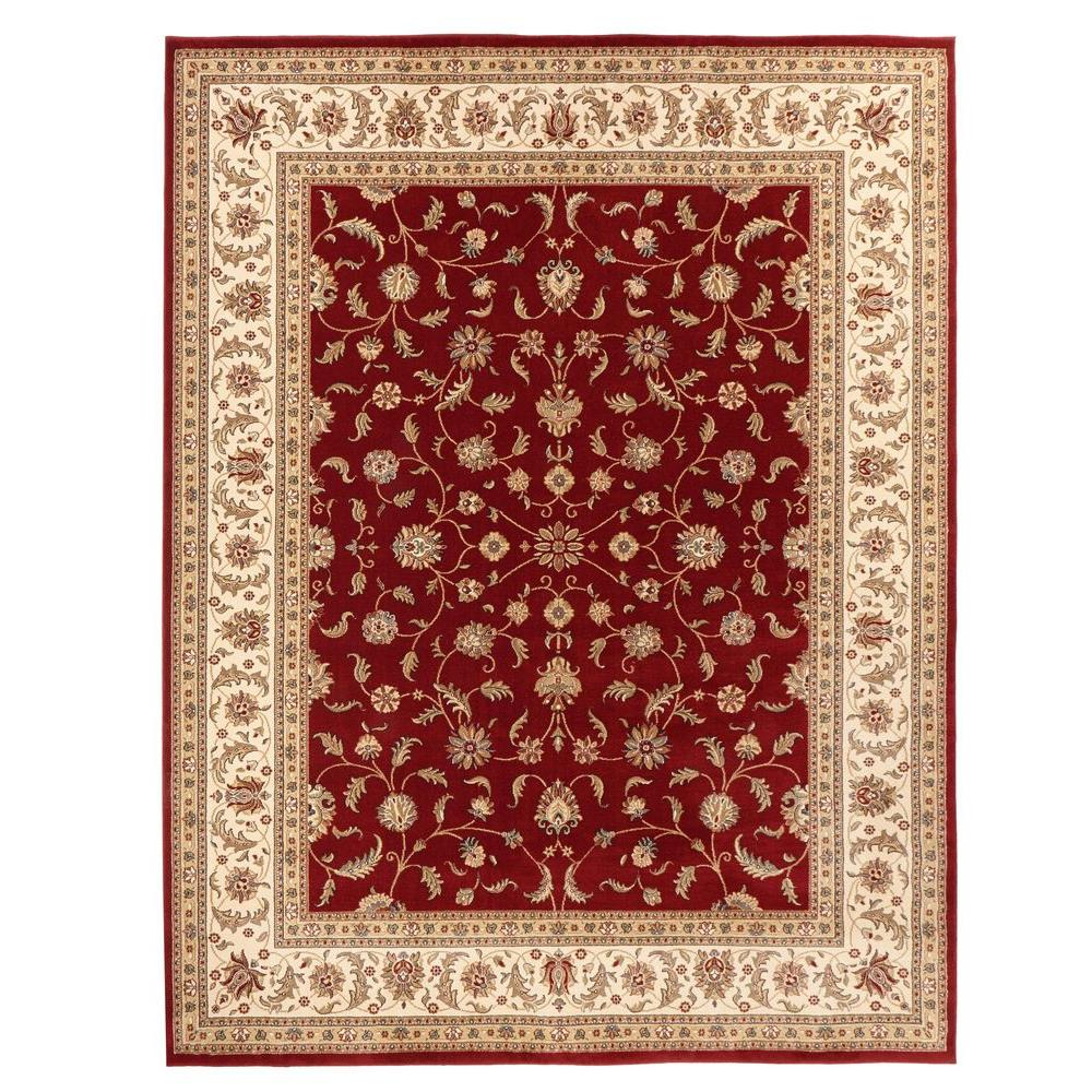Home Decorators Collection Maggie Red 7 ft. 10 in. x 10 ft. Area ...