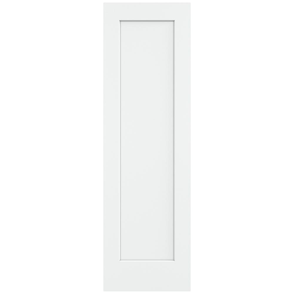 24 in. x 80 in. Madison White Painted Smooth Solid Core