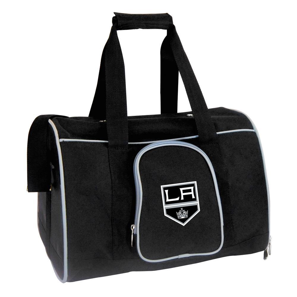 Denco NHL Los Angeles Kings Pet Carrier Premium 16 in. Bag in Gray 5aeaf8677