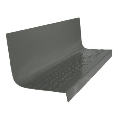 Vantage Circular Profile Charcoal 20.4 in. x 48 in. Rubber Square Stair Tread