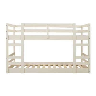 Low Wood White Twin Bunk Bed