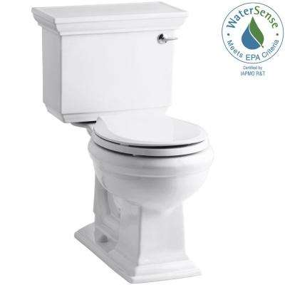 Memoirs Stately 2-piece 1.28 GPF Single Flush Round Toilet with AquaPiston Flushing Technology in White