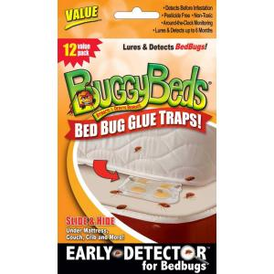 BuggyBeds Value Bedbug Glue Trap Detects and Lures Bedbugs (12-Pack) by BuggyBeds