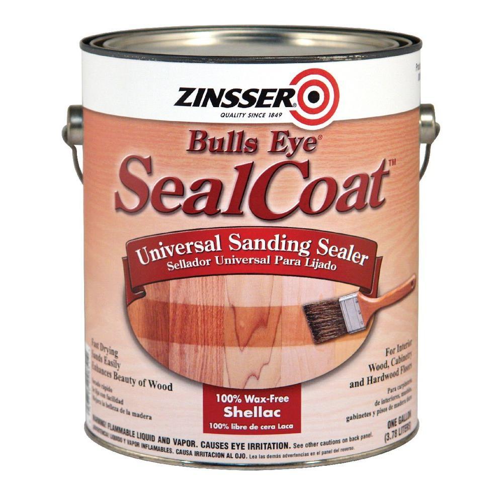 Zinsser 1 Gal Sealcoat Clear Matte Sanding Interior Sealer Case Of 2 821 The Home Depot