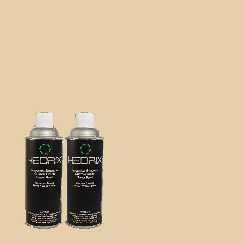 Hedrix 11 oz. Match of MQ3-44 Ancient Scroll Semi-Gloss Custom Spray Paint (2-Pack)