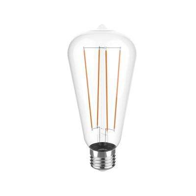 40W Equivalent Warm White (2700K) ST19 Dimmable Clear LED Light Bulb
