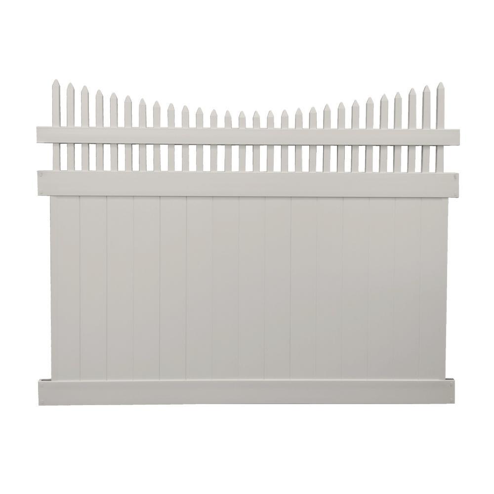 Halifax 5 ft. x 8 ft. Tan Vinyl Privacy Fence Panel