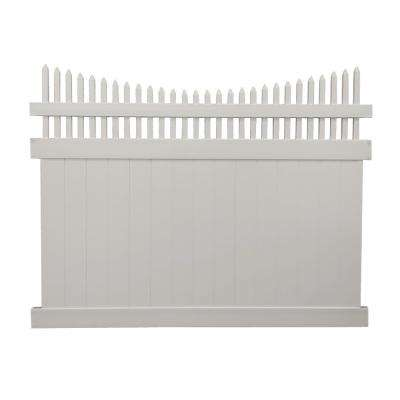 Halifax 6 ft. H x 8 ft. W Tan Vinyl Privacy Fence Panel Kit