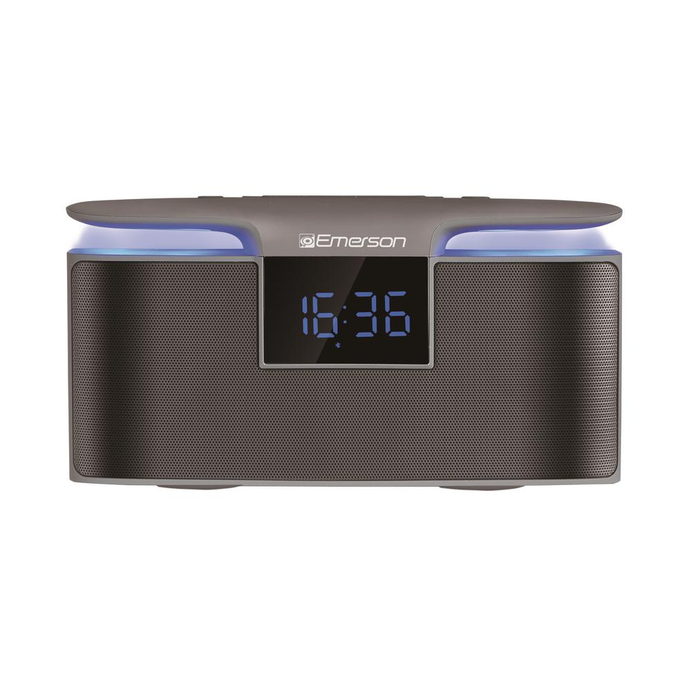 Portable Bluetooth Speaker with 12-Watt Stereo, Dual Alarm Radio and Night