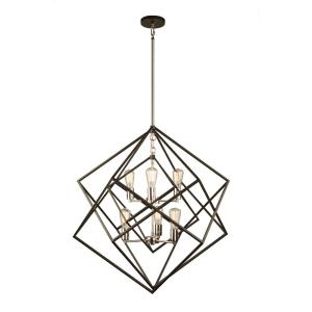 Artistry 6-Light Polished Nickel Cage Chandelier