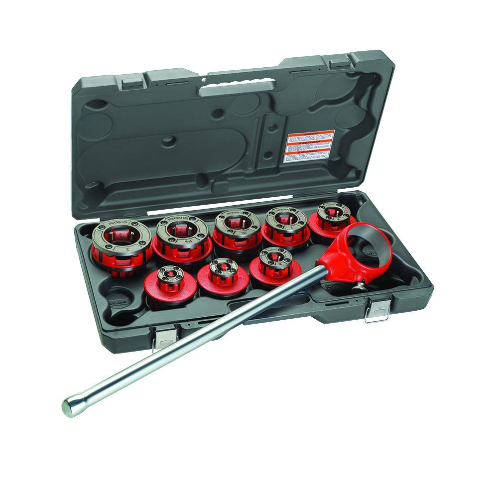 RIDGID 12-R Exposed Ratchet Threader Set