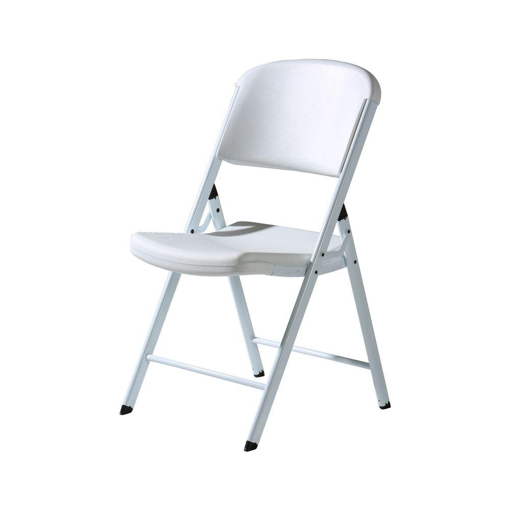 Lifetime Classic White Commercial Folding Chair (32-Pack)-DISCONTINUED