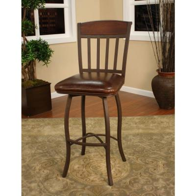 Lancaster 24 in. Ginger Spice Cushioned Bar Stool