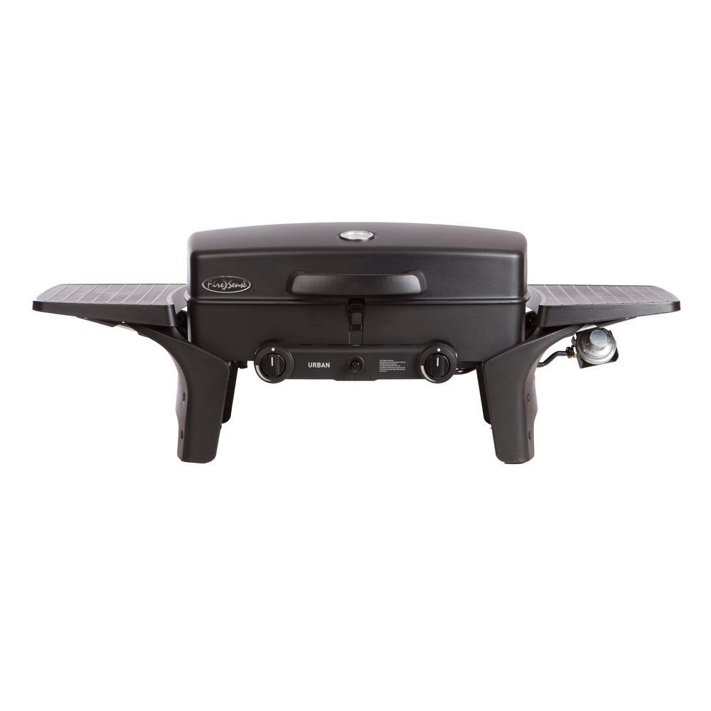 Urban Dual Burner Portable Propane Gas Grill in Black