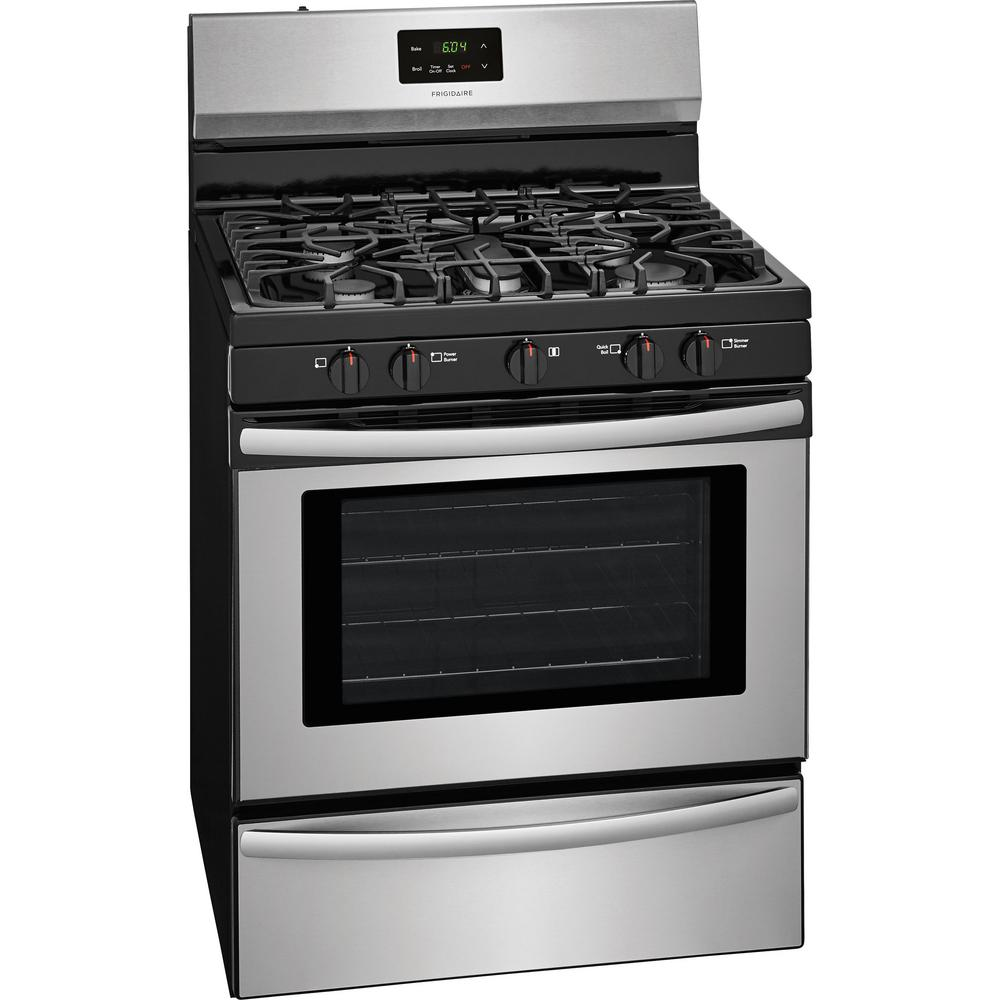 gas range with 5 burner cooktop in