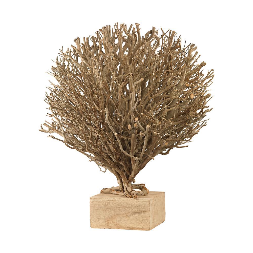 Briarfield 24 in. x 27 in. Wooden Decorative Sculpture In Natural