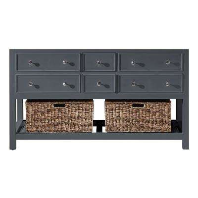 Elodie 59.2 in. W x 21.7 in. D x 33.5 in. H Bath Vanity Cabinet Only in Cashmere Grey