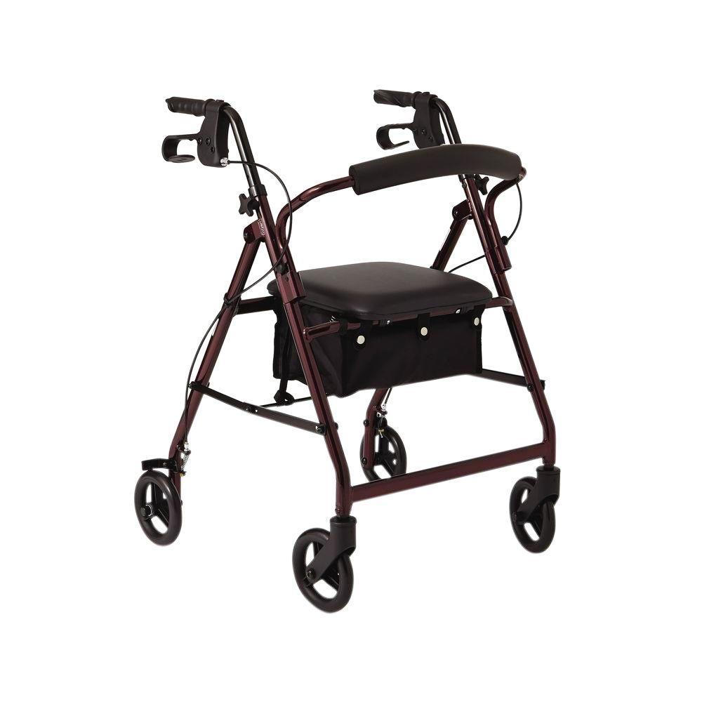 Ultra Lightweight Hemi Aluminum Rollator In Titanium 501 3012 4100