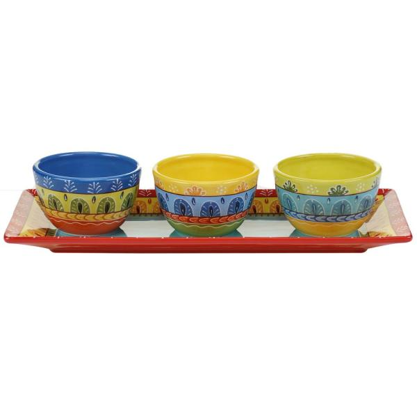 Certified International The Valencia Collection 4-Piece Serving Set 14188